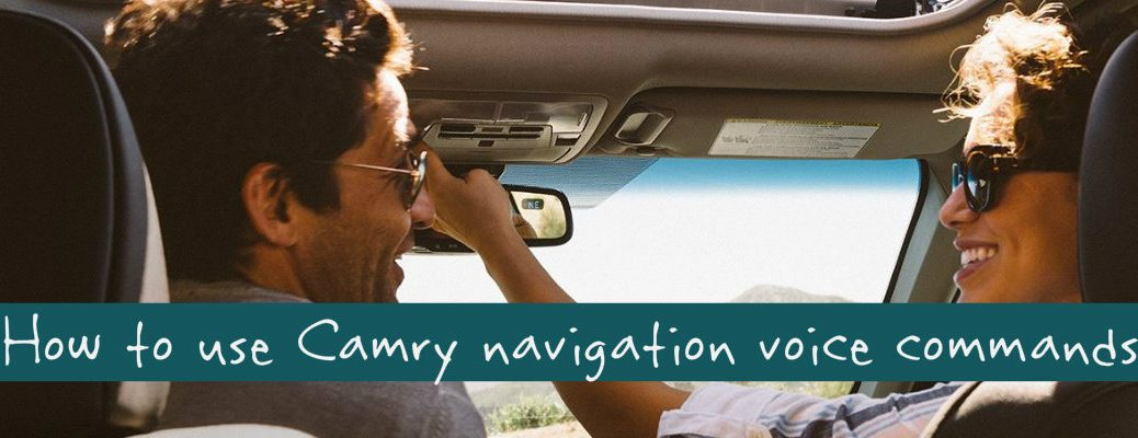 how to use 2015 Toyota Camry voice recognition navigation system