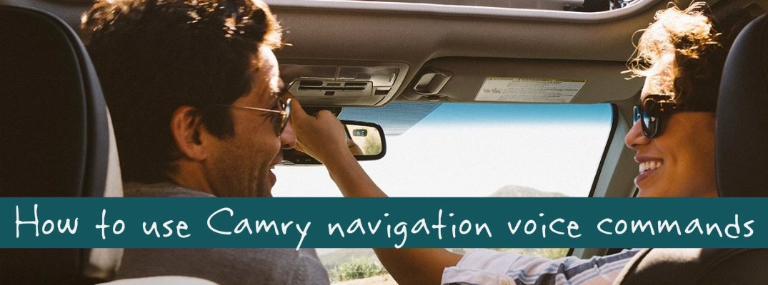 How to use voice recognition to reach your destination in the 2015 Toyota Camry
