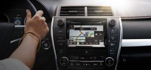 voice recognition with 2015 Toyota Camry Entune navigation screen