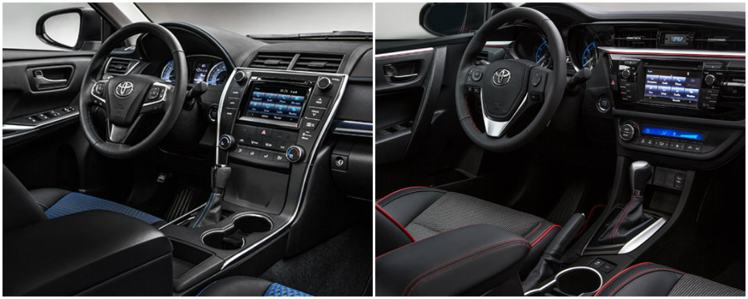 Toyota Camry Corolla Special Edition interior accents