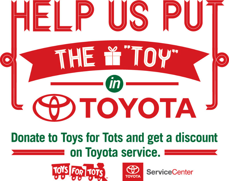 Toyota Vacaville Toys for Tots donation service discount