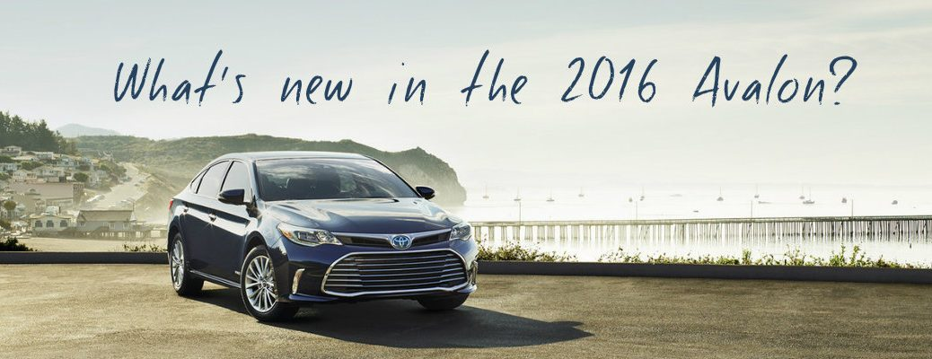 new features in the 2016 Toyota Avalon