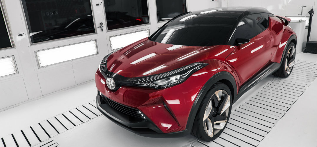 Scion C-HR exterior view from above