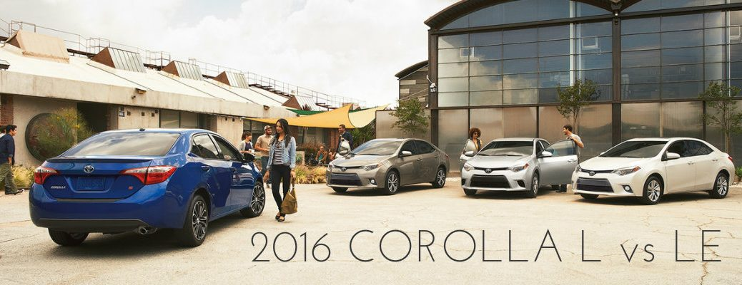 Differences between 2016 Toyota Corolla L and LE trim levels