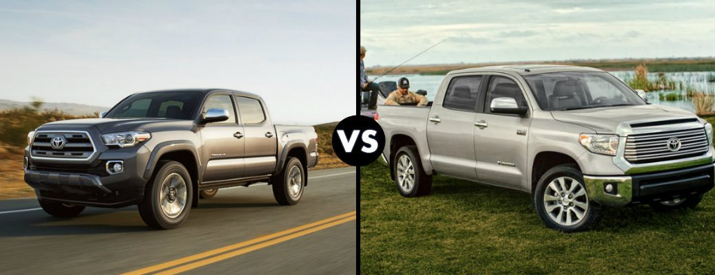 differences between 2016 Toyota Tacoma and Tundra