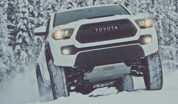 white 2017 Toyota Tacoma TRD Pro with heritage-inspired front grille