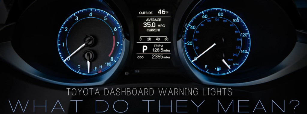 What are Toyota dashboard warning lights?