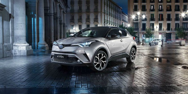 silver 2017 Toyota C-HR in the city