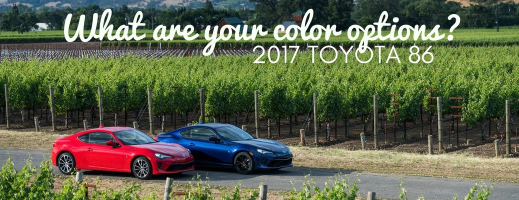 2017 Toyota 86 color options