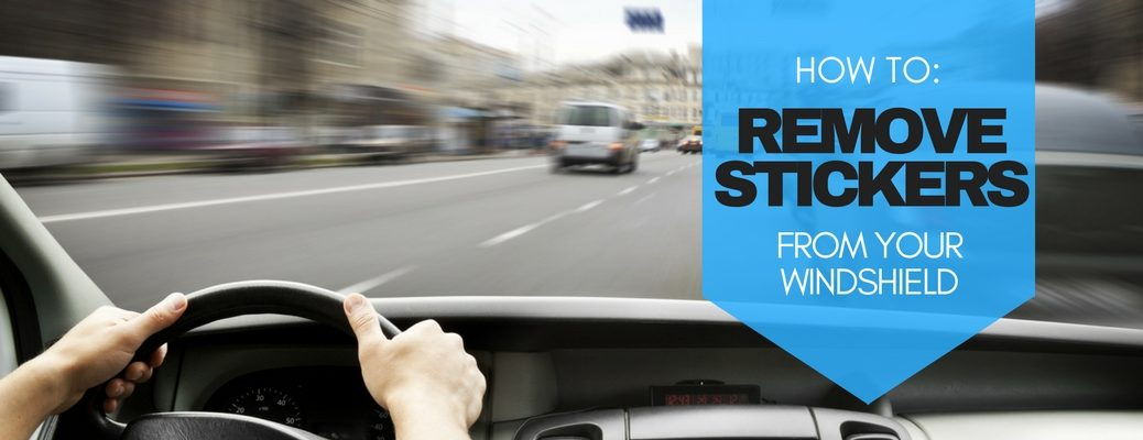 5 ways to remove stickers from your car windshield