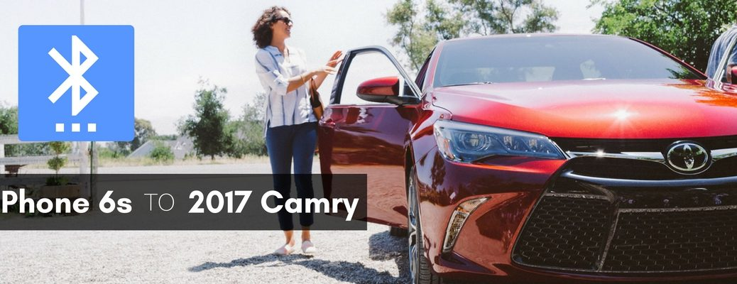 how to pair iPhone 6s with 2017 Toyota Camry via Bluetooth
