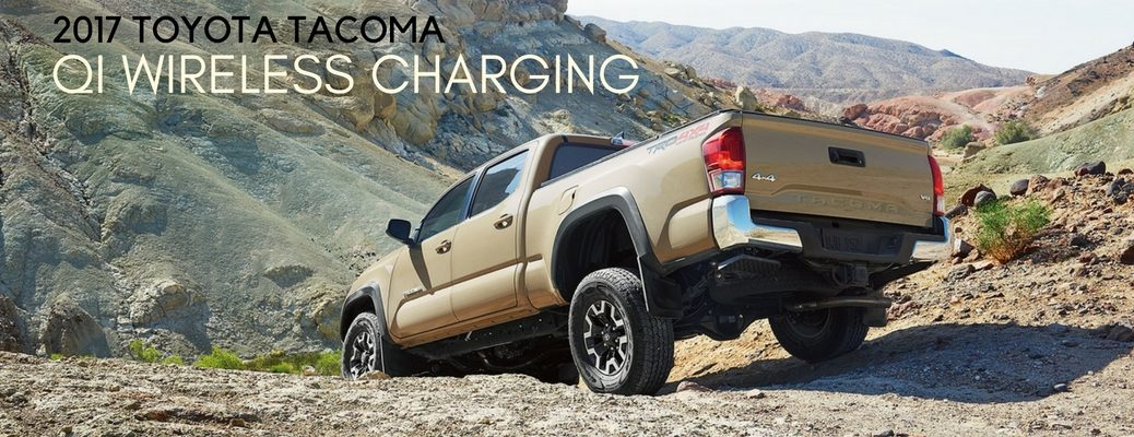how to use Qi wireless charging in 2017 Toyota Tacoma