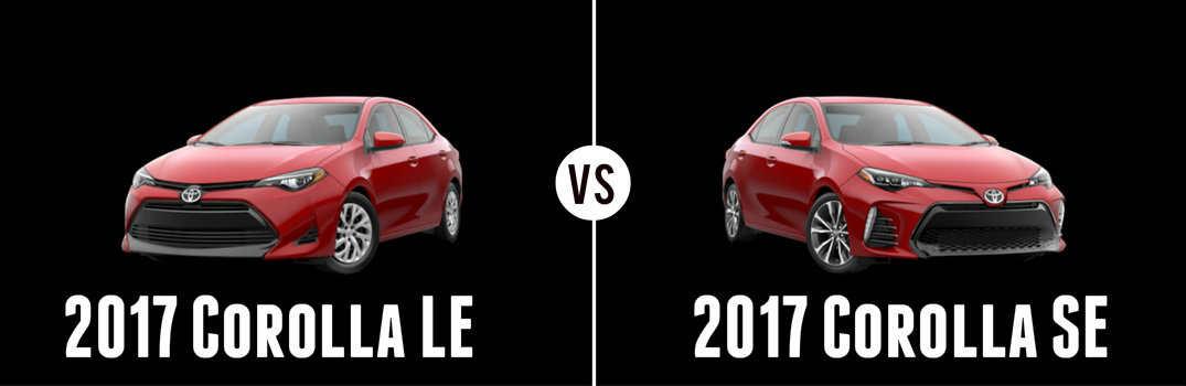 What's the Difference Between the 2017 Toyota Corolla LE and SE?
