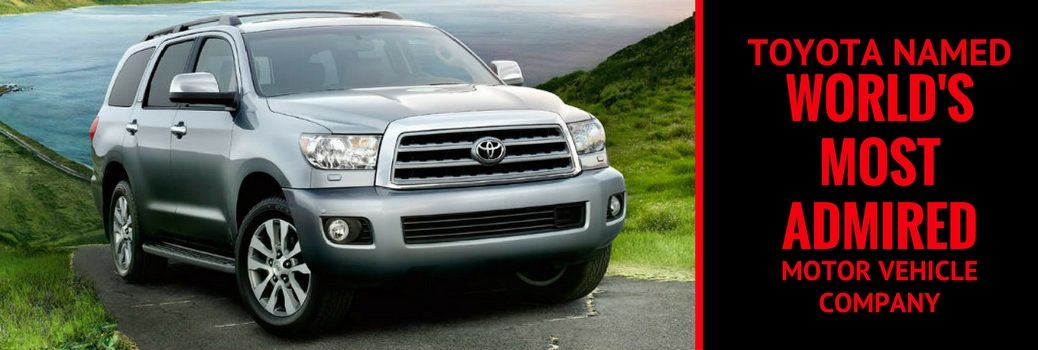 Toyota Named the 'World's Most Admired' Motor Vehicle Company for Third Year in a Row