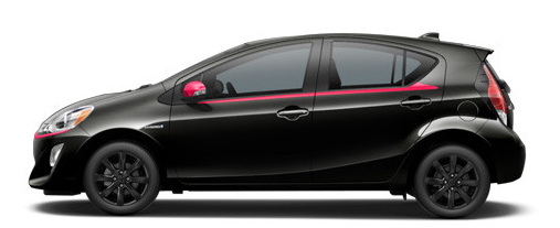 2017 Prius c in Black Sand with Cherry