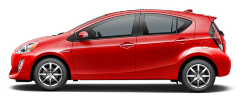 2017 Prius c in Absolutely Red
