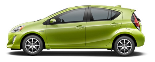 2017 Prius c in Electric Lime