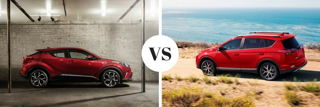 How does the Toyota C-HR compare to the RAV4?