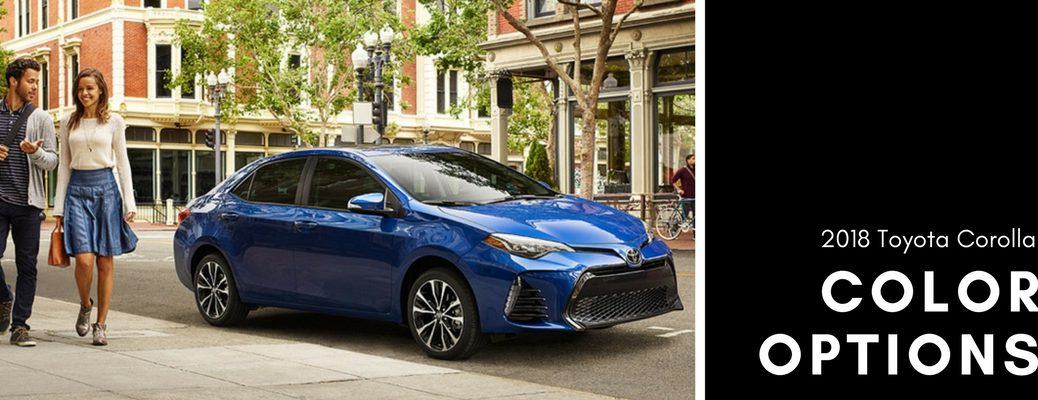2018 Toyota Corolla color options