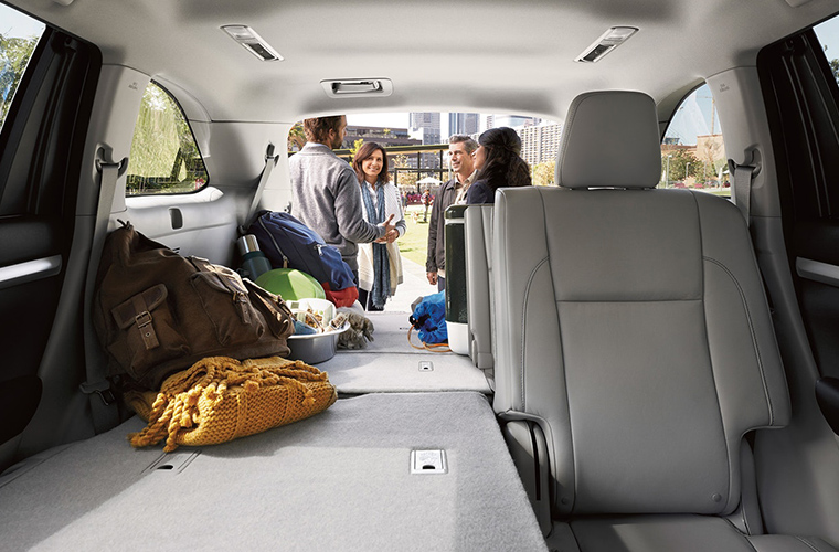 some seats folded flat for cargo in 2018 Toyota Highlander
