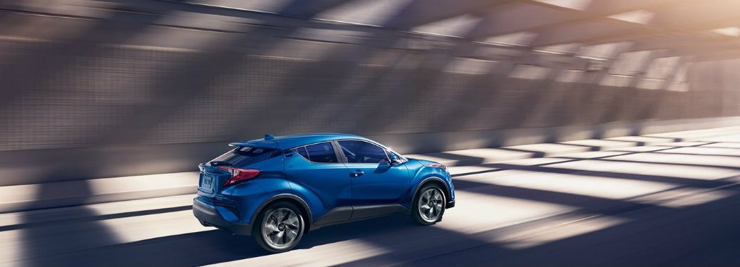 blue-2018-Toyota-C-HR-driving-in-tunnel