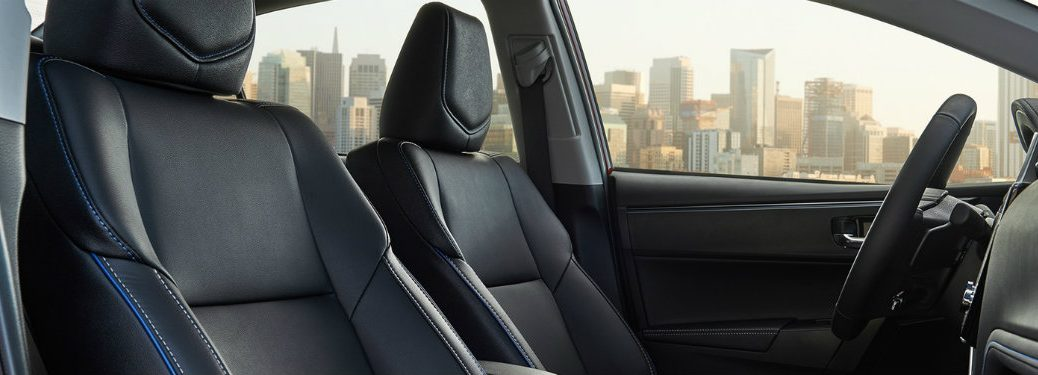 black-SofTex-front-seats-in-2018-Toyota-Corolla