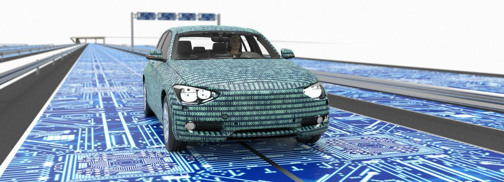 numbers-covering-car-driving-on-highway-with-technology-interface-depicting-vehicle-to-vehicle-communication