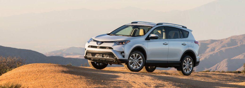 silver-2016-Toyota-RAV4-parked-on-off-road-desert-terrain