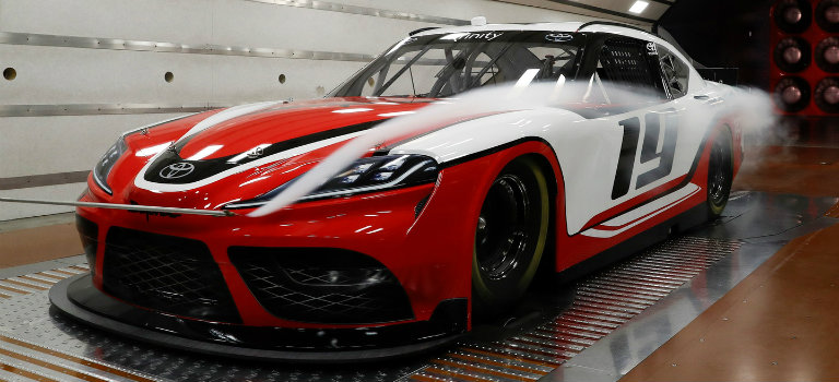 front-side-view-of-2019-Toyota-Supra-NASCAR-model