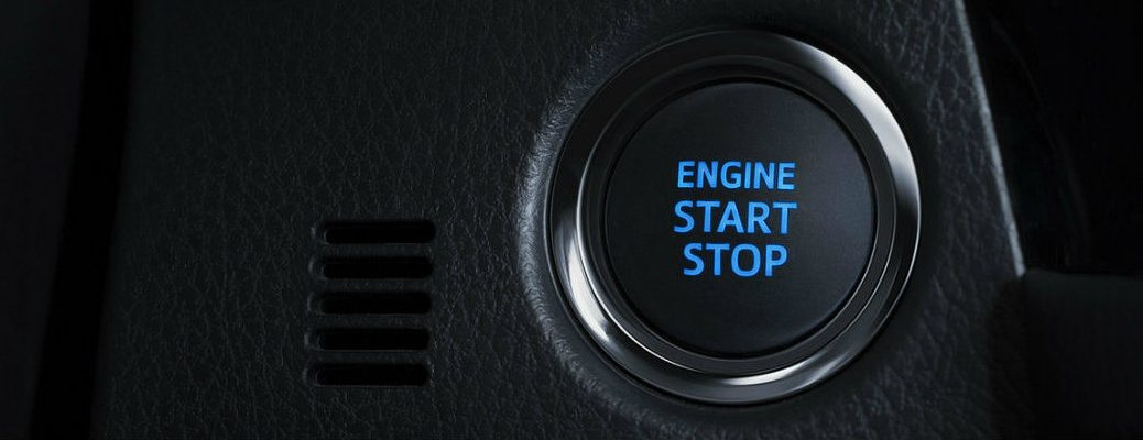 Engine Start Stop button in a Toyota vehicle