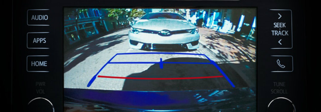 What do the colored lines on the Toyota backup camera mean?