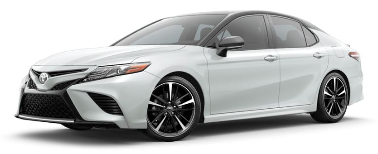 2019-Toyota-Camry-Wind-Chill-Pearl-with-Midnight-Black-Metallic-roof-and-rear-spoiler