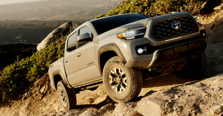 2020-Toyota-Tacoma-TRD-Off-Road-driving-up-rocky-incline