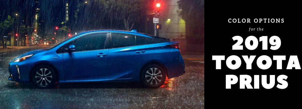 side-profile-of-blue-2019-Toyota-Prius-with-Color-Options-for-the-2019-Toyota-Prius-wording