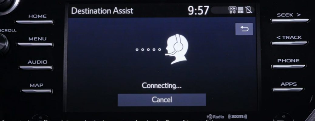 Destination Assist feature in a Toyota vehicle