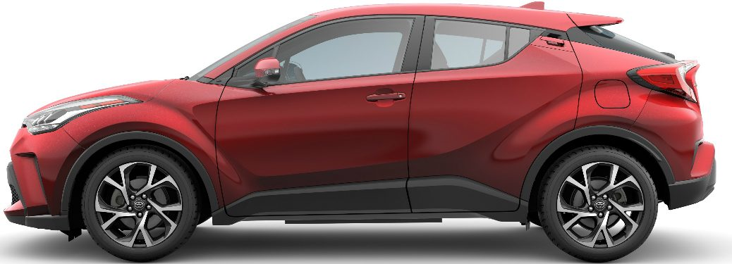 Side view of red 2020 Toyota C-HR
