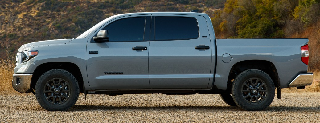 Side view of grey 2021 Toyota Tundra Trail Special Edition