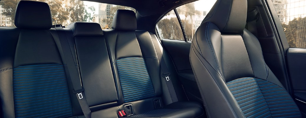 Gray and blue seats in 2021 Toyota Corolla