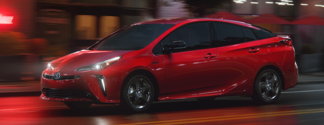 2021 Toyota Prius red side view