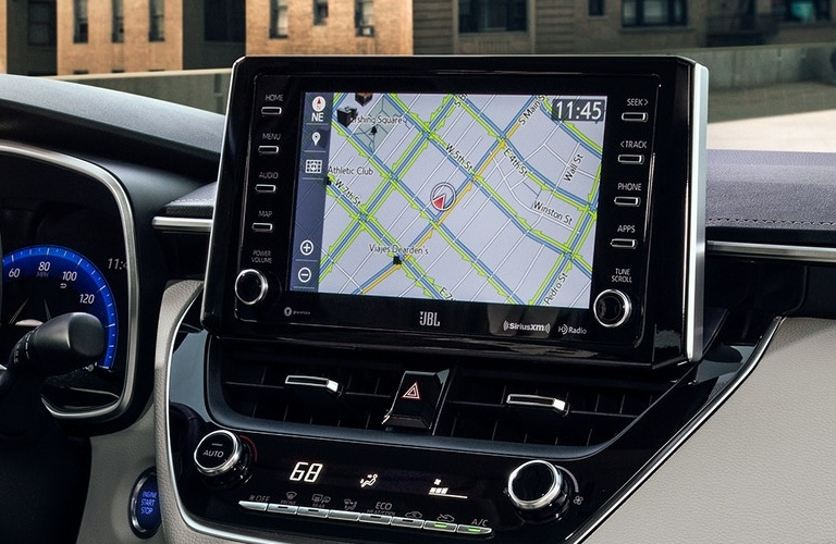 2021 Toyota Corolla infotainment system with navigation