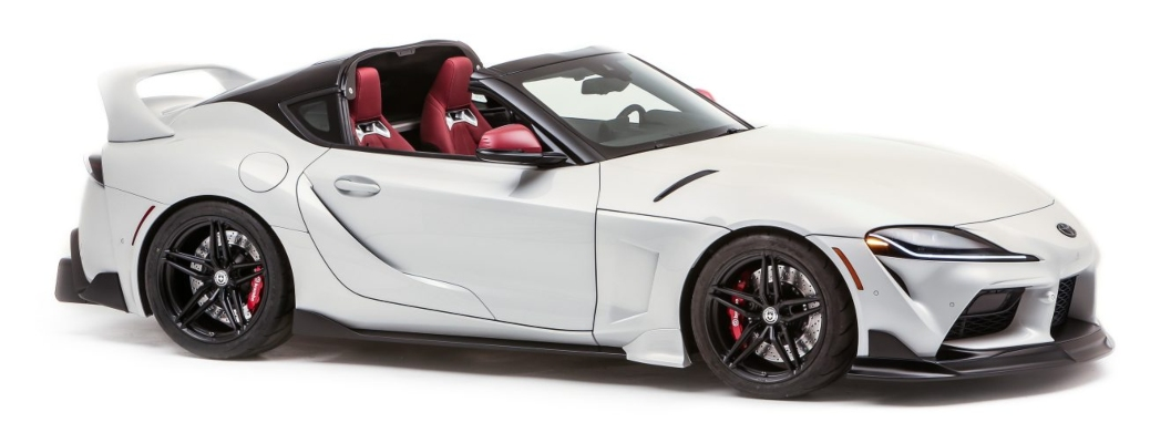 2021 Toyota GR Supra Sport Top white side view