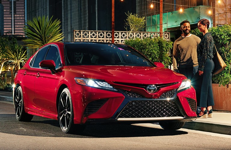 2021 Toyota Camry red front view