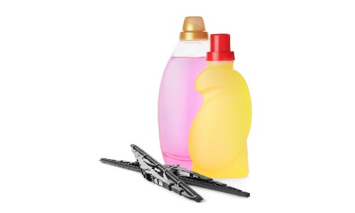 blank washer fluid bottles and wiper blades