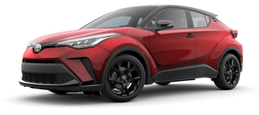 2021 Toyota C-HR red with black roof