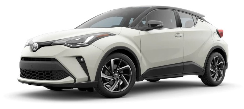 2021 Toyota C-HR blizzard pearl with black roof