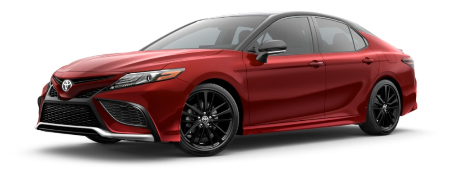 2021 Toyota Camry Supersonic Red Midnight Black