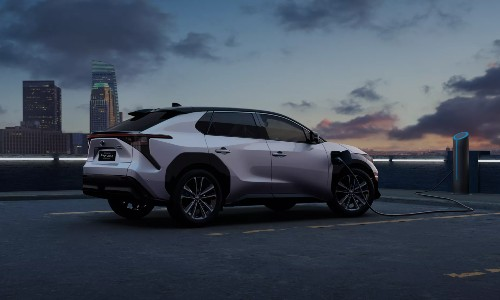 Toyota bZ4X concept charging on rooftop