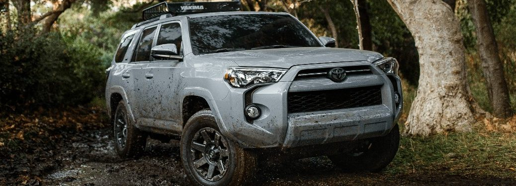 2021 Toyota 4Runner driving on a dirt road