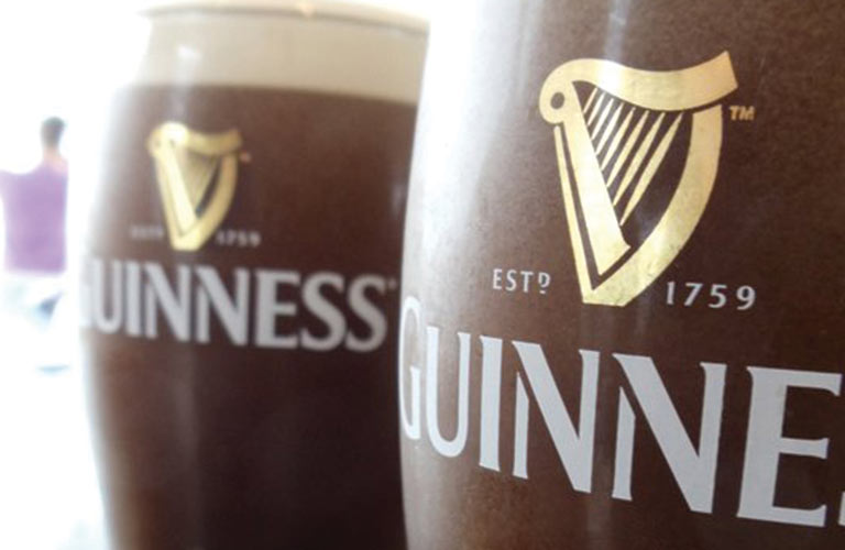 guinness pints of beer