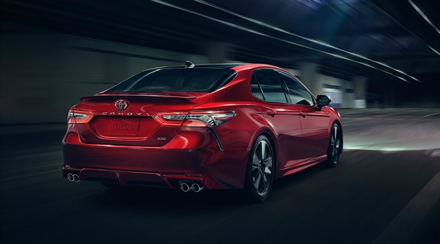 2018 Toyota Camry driving at night